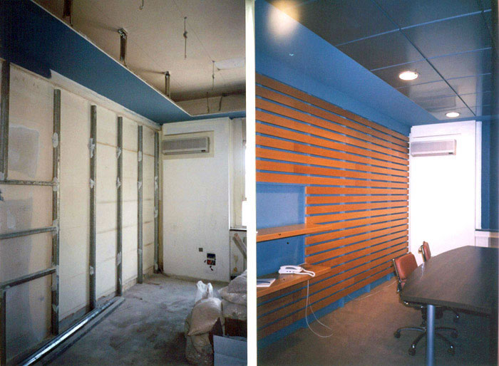 meeting room - before + after